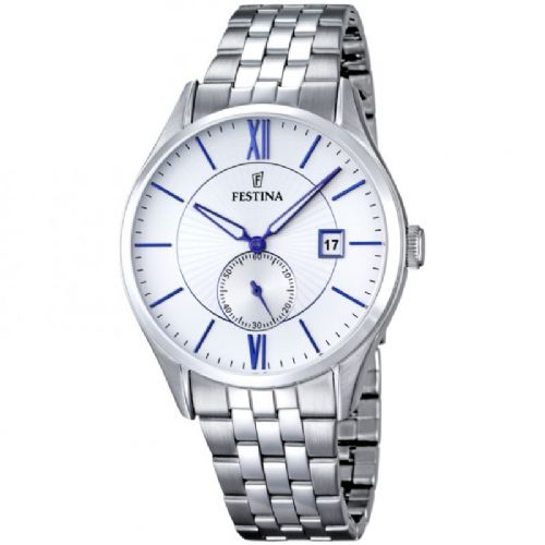F16871/1 Festina Mens Stainless Steel Round Blue Bracelet Watch